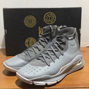 Under armour curry 4 basketball shoe grey sz 10.5
